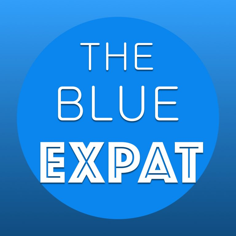 The Blue Expat podcast cover art