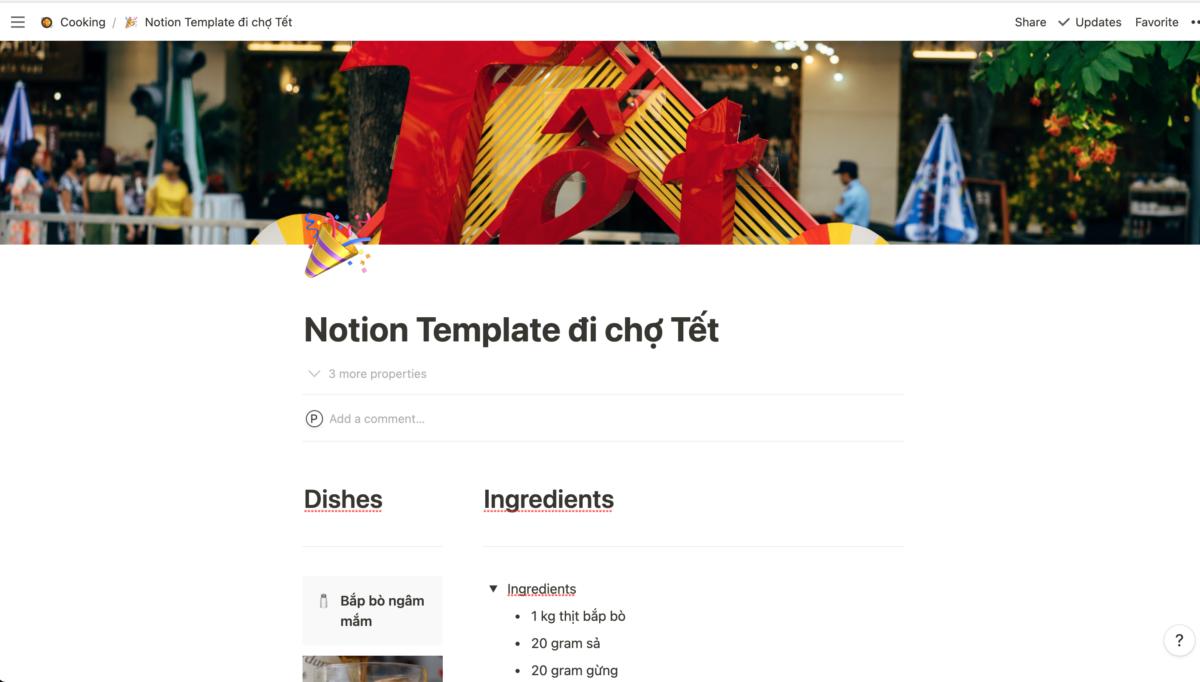 Notion templates cho ngày Tết The blue expat podcast blog